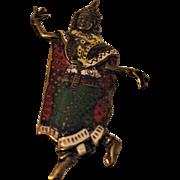 Vintage SIAM Enamel Dancer Brooch