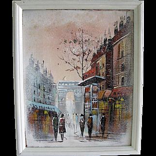 Oil Painting Impressionist Street Scene by Alferio Maugeri