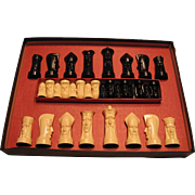 Peter Ganine Salon Edition Sculptured Chess Set 1961
