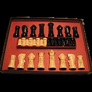 Peter Ganine Salon Edition Sculptured Chess Set 1961