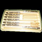 Vintage Set of 8 Carvel Hall Steak Knives by Briddell