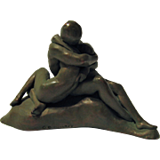 Vintage Alva Museum Replicas Nude Lovers Sculpture