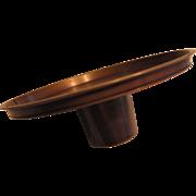 Mid Century Copper Round Centerpiece Holder