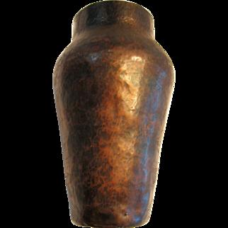 Hand Hammered Arts & Crafts Copper Vase