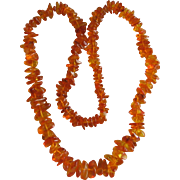Amber Polished Nugget Necklace
