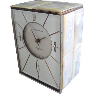 Phinney Walker Transistor Clock with Mother of Pearl Case