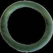 Vintage Lucite Green Marbled Bangle Bracelet
