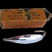 Vintage Johnson's Silver Minnow No 3 Weedless Spoon