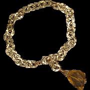 Citrine and 14K Gold-Fill Chain Bracelet