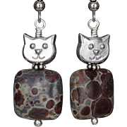 Meet 'Jasper' the Cat Earrings