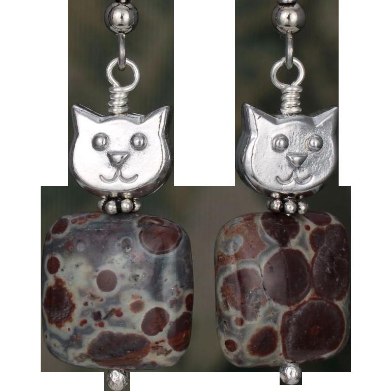 Meet 'Jasper' the Cat Earrings