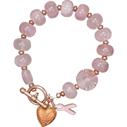 Pretty in Pink Rose Quartz Bracelet