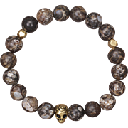 Turritella Skull Stretch Bracelet