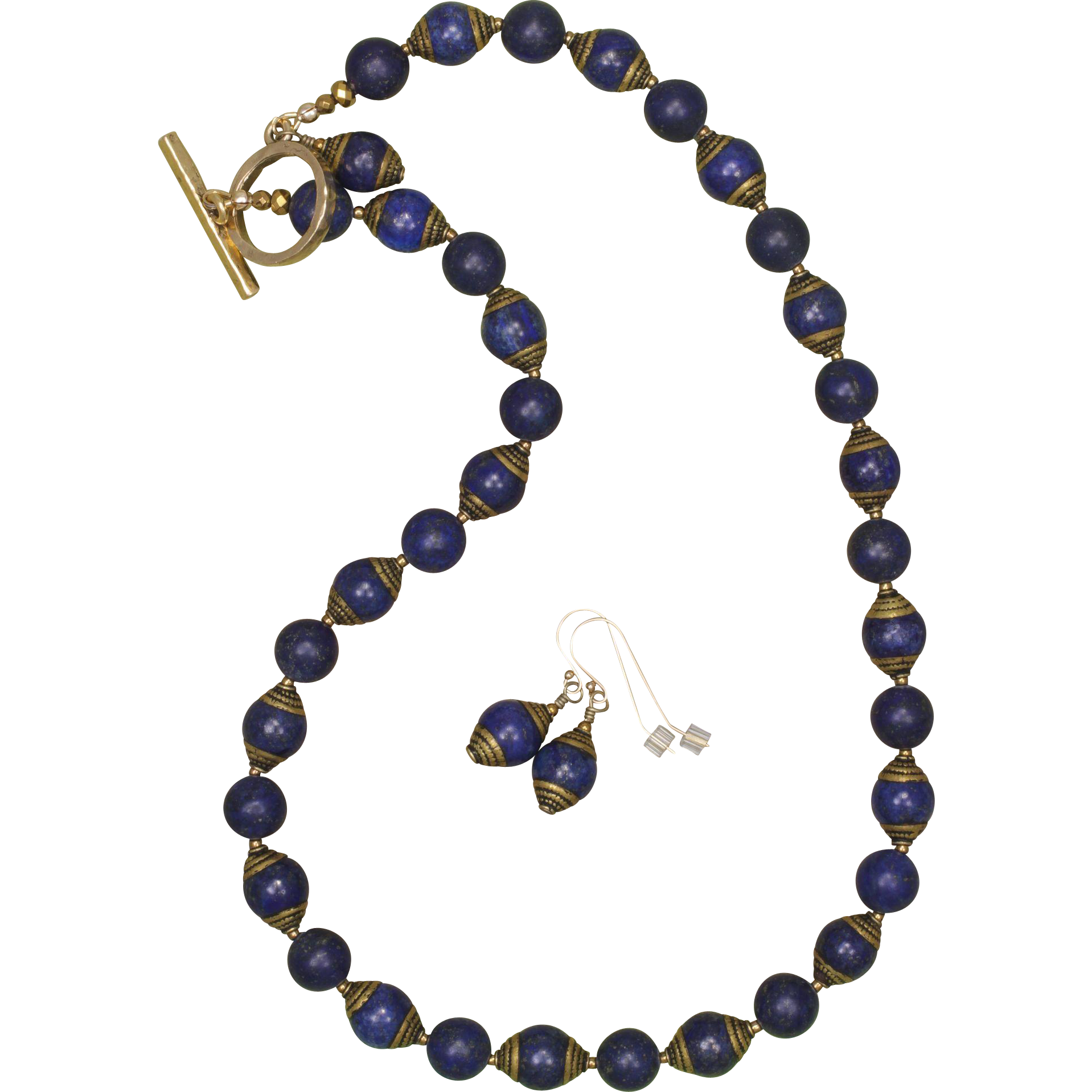 I Love Lapis Lazuli, Do you? Necklace and Earrings Set