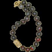 Seftonite or African Bloodstone Necklace