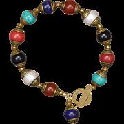 Multi Gemstone Tibetan Bead Bracelet
