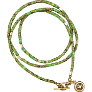 Green Turquoise and Golden Hematite Necklace