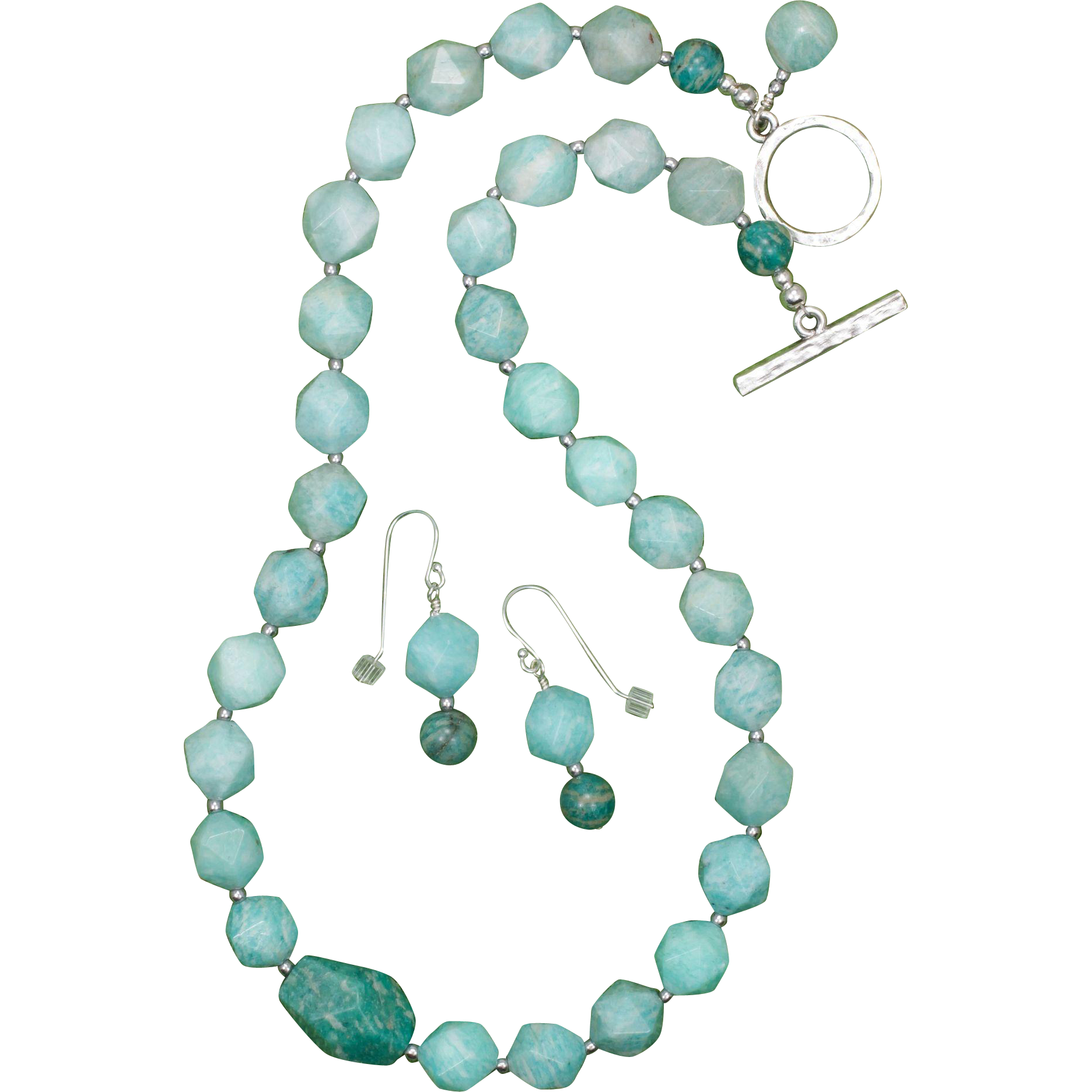 The Amazin' Amazonite Necklace and Earrings Set