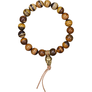 Zebra Iron Jasper Stretch Bracelet