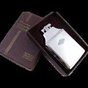 Cigarette case lighter Ronson chrome vintage Art Deco M33 C&E Near Mint Unused Old Stock
