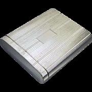Scarce Flip Top Box style vintage Art Deco 1920s signed Napier sterling silver cigarette case / smoking / tobacciana / 2.8 ounce