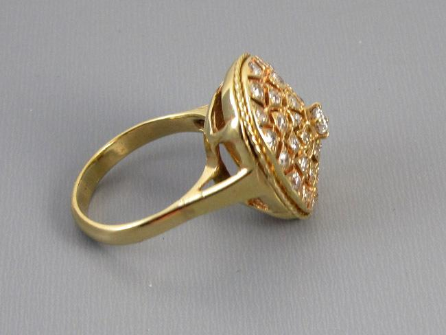 MASSIVE 14k gold 1.15 carat diamond statement cocktail dinner ring