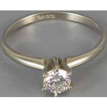 Vintage estate 14k white gold .40 carat diamond solitaire engagement ring Atlanta Georgia