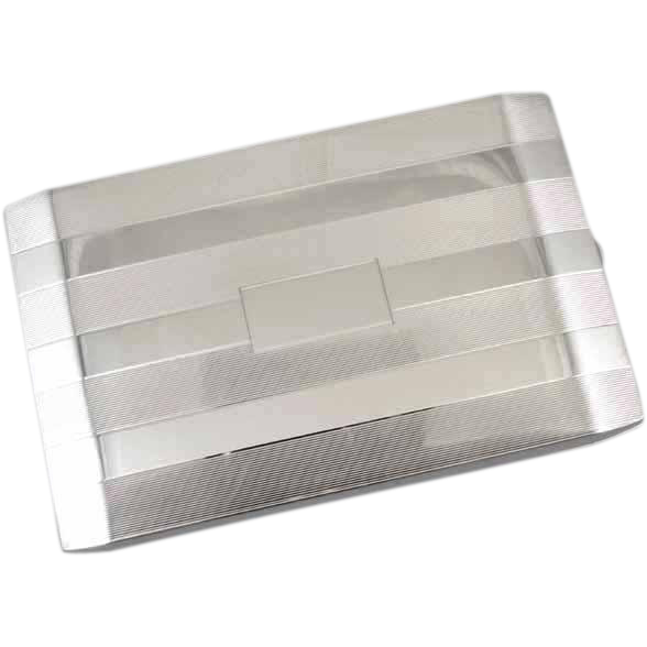 Cigarette case sterling silver vintage Art Deco 1944 Napier 5.3 ounce business card case M140E&C