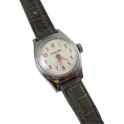 NEEDS SERVICED wrist watch vintage Cinderella Walt Disney US Time cartoon character girls childs childrens does not run