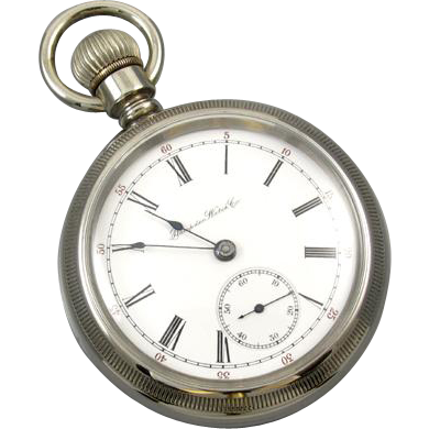 PROFESSIONALLY RESTORED and SERVICED Antique Victorian 1897 pocket watch Hampden Swing-Out