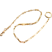 Antique Edwardian signed Simmons gold filled pocket watch chain