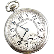 PROFESSIONALLY RESTORED and SERVICED vintage Art Deco 1922 Illinois Rockland pocket watch