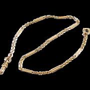 Vintage Art Deco gold filled bar link pocket watch vest chain signed Forstner j199