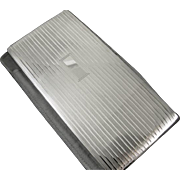 EXTRA LARGE bill fold size cigarette case sterling silver vintage Art Deco Napier 7.2 ounce business card case T145E&C