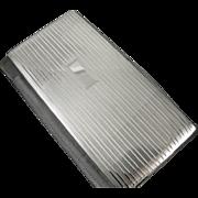 EXTRA LARGE bill fold size cigarette case sterling silver vintage Art Deco Napier 7.2 ounce business card case T145E&C