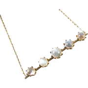 Antique Victorian 14k gold pendant necklace conversion jewelry with 7.80 carats of natural moonstone