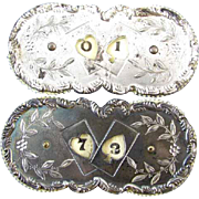 Pair of antique Edwardian silver plated gaming playing card poker rotating score keeper counters both signed Wilcox Silver Plate Company