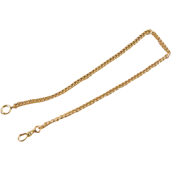 Vintage signed Simmons gold filled pocket watch chain on the original store card mint condition unused new old stock NOS j390