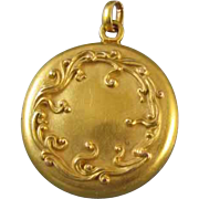 Rare antique Art Nouveau Edwardian 14k gold locket signed H.A. Kirby for pendant necklace
