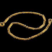 Vintage Art Deco gold filled bar link mens pocket watch chain j135
