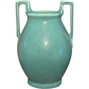 Vintage Rookwood Arts and Crafts Mission style Art Deco 1928 matte glaze teal blue green ceramic / pottery / vase 2558 / X5378