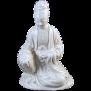 Vintage mid century porcelain Siddhartha Gautama Buddha figurine / sitting / Buddhism / Buddhist / Indian / India / Hindu / Karma / Zen