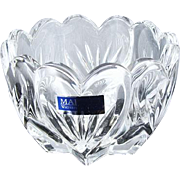 Marquis by Waterford crystal made in Germany Sweet Memories votive lead crystal candle holder / bowl / trinket dish / NOS new old stock