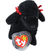 1997 Ty Original Beanie Baby Gigi black poodle dog plush toy stuffed animal