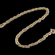Vintage Art Deco gold filled mens pocket watch chain signed BAB Ballou j150
