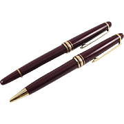 Montblanc Meisterstuck Germany rollerball pens bordeaux red / gold DC 303605 / PP 1126822 retractable mechanical precision writing instruments