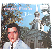 1967 Elvis Presley gospel vinyl LP record How Great Thou Art as sung by Elvis RCA AFL1-3758STEREO mint sealed original price tags
