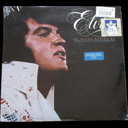 1978 Elvis Presley vinyl LP record gospel He Walks Beside Me RCA AFL1-2772 mint sealed original price tags / Limited Edition Photo Album