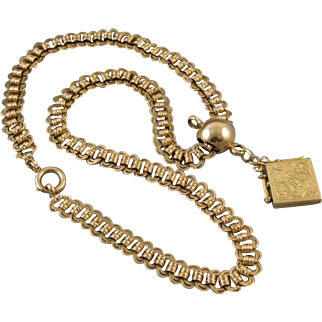 MASSIVE antique Victorian Austro Hungarian 14k solid gold 49 GRAM pocket watch slide chain 19 inch necklace length with locket fob late 1800