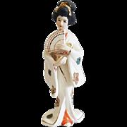 Vintage Japan geisha woman porcelain figurine / Napco / Asian / Oriental / ceramic / pottery / Napcoware